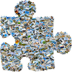Mosaic single puzzle piece
