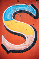 S Typography Letter