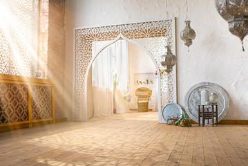 Warm Loft Interior With Sunlight