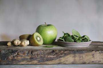 Green fresh fruit