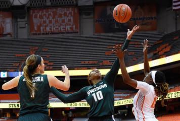 NCAA Womens Basketball: Michigan State at Syracuse