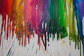 Melted crayon drips