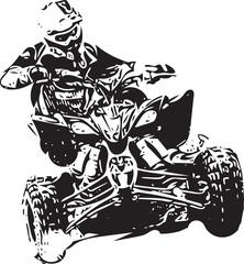 Quad bike illustration