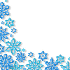 Corner snowflake background.