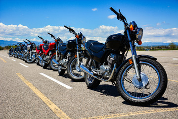 Motorcycles In A Row
