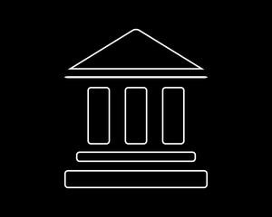 bank thin line icon