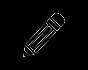 pencil thin line icon