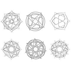 Symbols and symmetrical geometric pattern vector EPS10