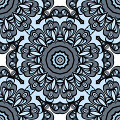 Seamless Floral mandala ornament. vector. design element for print, fabric, wallpaper