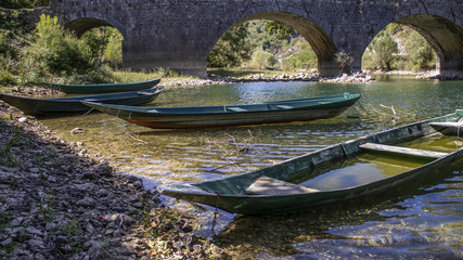 Montenegro - Traditional dories of the Skadar Lake