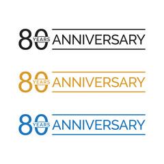 simple 80 years anniversary