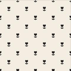 seamless monochrome flower pattern background