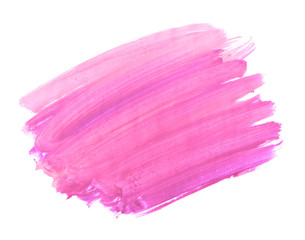 A fragment of the pink background painted with watercolors