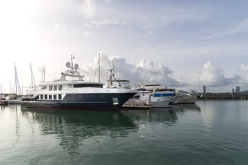 Yacht marina in Pattaya, Chonburi, Thailand