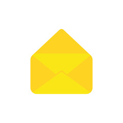 Flat design style vector concept of open envelope