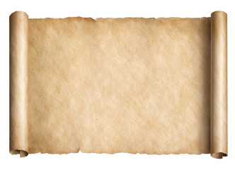 Old paper scroll or parchnment isolated 3d illustration