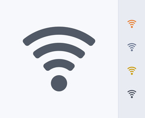 Wifi Symbol - Carbon Icons. A professional, pixel-perfect icon designed on a 32 x 32 pixel grid and redesigned on a 16 x 16 pixel grid for very small sizes.