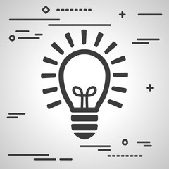 Flat Line design graphic image concept of idea light bulb icon o