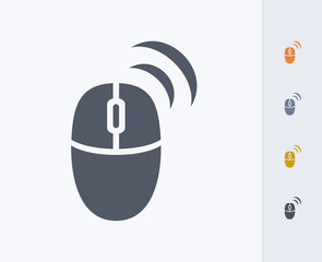 Wireless Mouse - Carbon Icons. A professional, pixel-perfect icon designed on a 32 x 32 pixel grid and redesigned on a 16 x 16 pixel grid for very small sizes.