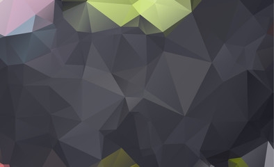 Dark vector triangle background design. Geometric background in Origami style with gradient