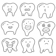 vector set of tooth
