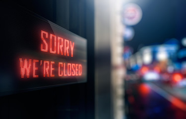 LED Display - Sorry we're closed Signage