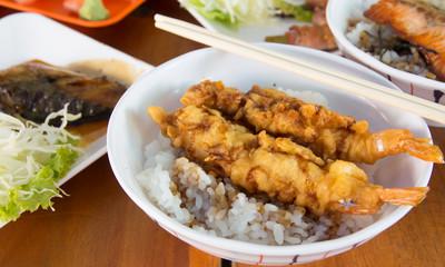 japanese food (Shrimp tempura)