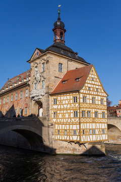 Historic town hall of Bamberg in southern Germany