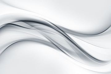 Aluminium Prints Abstract wave Bright gray and white waves background.