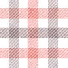 Vector gingham seamless pattern in red