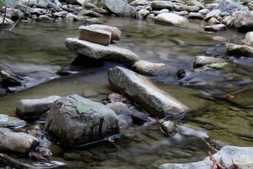 красивая каменистая, прозрачная горная река