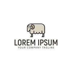 Sheep Logo. Minimalist design concept template