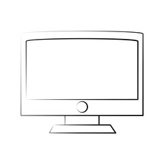 Computer monitor isolated icon vector illustration graphic design