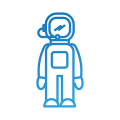 astronaut in space suit character profession mission