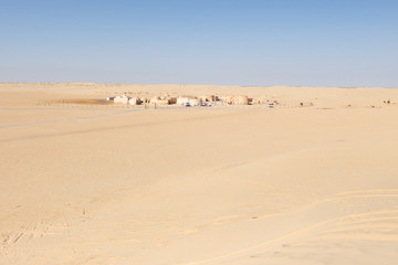 Sahara Desert, the place where the movie Star Wars was shot
