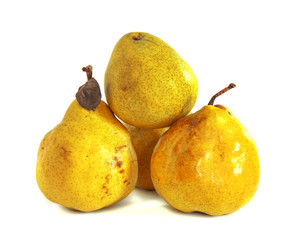 Ripe pears on a white background, isolate,