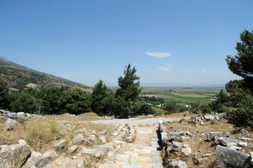 La plaine du Méandre vue depuis le site archéologique de Priène en Anatolie