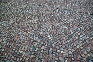 Cobblestone Pavement in Stockholm, Sweden