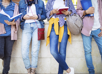 Young students on campus