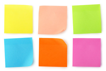 colorful notes Wall mural