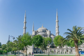 The Blue Mosque in Istanbul, Turkey on summer day