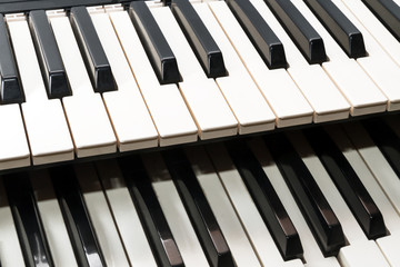 Two musical keyboards