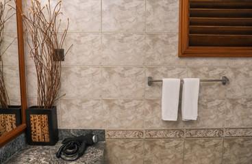 Interior of modern hotel bathroom