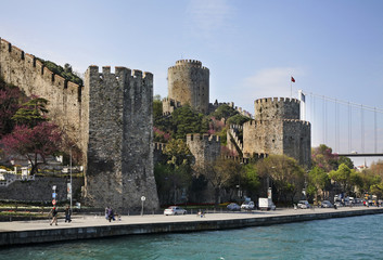 Wall Murals Northern Europe Rumelihisarı (Roumeli Hissar Castle) in Istanbul. Turkey
