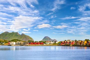 Fotomurales - Fishing village Ballstad, Lofoten Islands, Norway