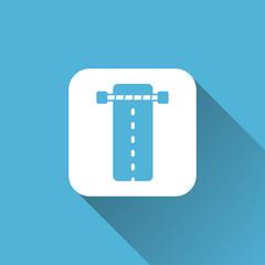 flat road icon