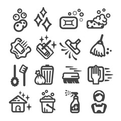 cleaning icon set,vector illustration