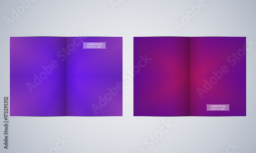 bi fold brochure template layout flyer cover annual report