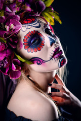 muertos holiday makeup