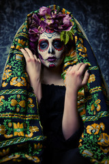 traditional costume on muertos